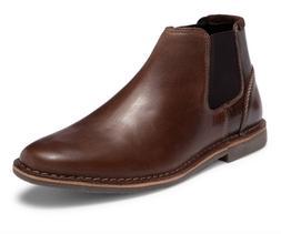 $110 Steve Madden Impass Men's Dark Brown Leather Chelsea Bo