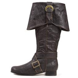 "Ellie Shoes Men's 1""Heel Knee High Pirate with buckle décor"