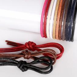 1Pair Waxed Cotton Round Shoe laces Leather Waterproof ShoeL