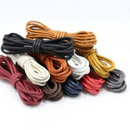1Pair Waxed Round Elastic Shoe laces Women <font><b>Men</b><
