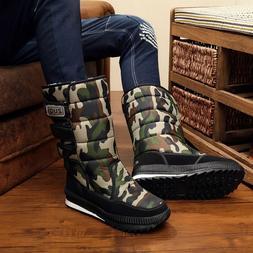 2019 <font><b>Mens</b></font> platform snow <font><b>boots</