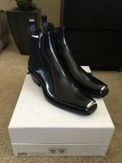 Calvin Klein 205W39NYC Chris Boots Western Black Leather Siz