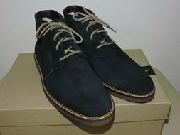 Clarks 26136447 Grandin Mid Navy Blue Suede Men's Boots Size