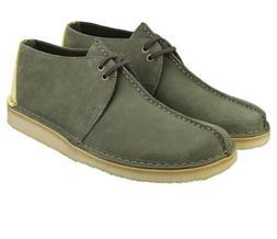 Clarks 26139210 Men's 7 Desert Trek Boots Sage Suede Leather