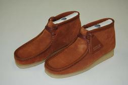 NEW MEN'S CLARKS WALLABEE BOOTS TAN HAIRY SUEDE CL22