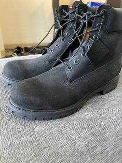 Timberland 6-inch Preminum Waterproof Black Nubuck Size 11