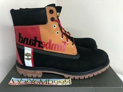 Timberland 6 inch Premium Black Waterproof Boots Nubuck Colo