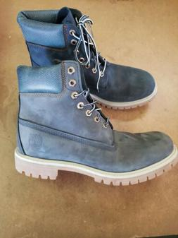Timberland 6 Inch Premium Limited Navy Boots A1UKS Men's 9.5
