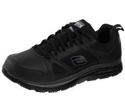 Skechers Black Shoes Work Men's Memory Foam Slip Resistant L