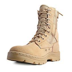 "Ridge Footwear 8"" Men's Dura-Max Side Zipper Sand Tactical M"