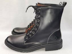 Polar Fox Shoes Men's Lace-Up Calf High Black Military Style