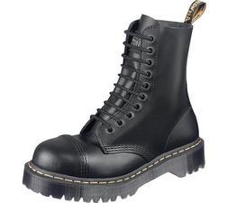 Dr. Martens Men's 8761 Steel-Toe Boot Black Fine Haircell 4