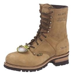 Ad Tec Mens 9in Crazy Horse Brown Logger Boots with Steel To