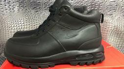 Nike Mens Air Max Goaterra ACG Leather Boots Black/Black 365