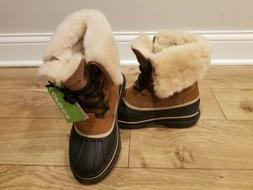 Crocs Allcast II Luxe Winter Snow Boots Men's Size 8 Wheat B