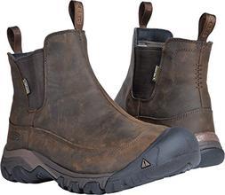 KEEN Men's Anchorage Boot iii wp-m Hiking, Dark Earth/Mulch,