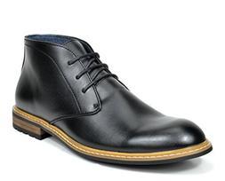 Bruno Marc Men's Bergen-02 Black Leather Lined Oxfords Dress