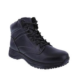 safeTstep Black Men's Slip Resistant Dawson Plain Toe Boots