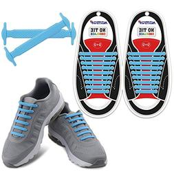 Blue Elastic Lacing System Laceless Shoes Slip On Shoe Laces