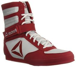 Reebok Men's Boot Boxing Shoe, White/Excellent red, 9 M US