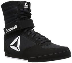 Reebok Men's Boot Boxing Shoe, Black/White, 14 M US