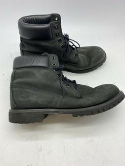 Timberland Men's 6 Inch Premium Boot Leather Black Ankle-Hig