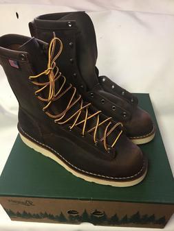 "Danner Boots Men's 8"" Bull Run Round Toe Brown 15556 Siz"