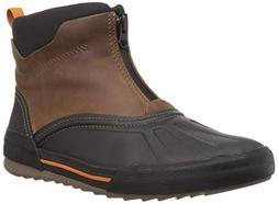 CLARKS Men's Bowman Top Ankle Boot, Dark tan Leather, 140 M
