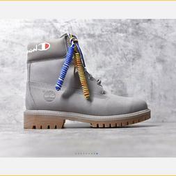 Brand New Timberland  premium men's boots gray nubuck- grey