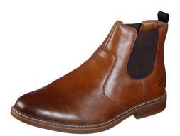 Skechers Bregman Morago Men's Leather Chelsea Boots with Mem