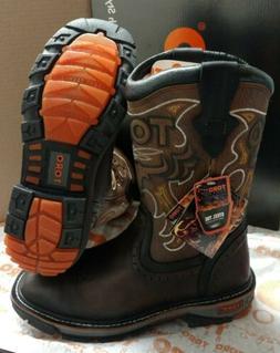 Cebu Brown Toro Bravo Men Leather Steel Toe Work Safety Boot
