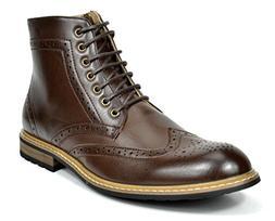 Bruno Marc Men's Bergen-01 Dark Brown Leather Lined Oxfords