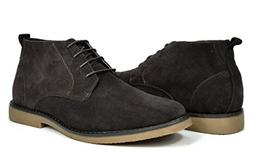 Bruno Marc Men's Chukka Dark Brown Suede Leather Chukka Dese