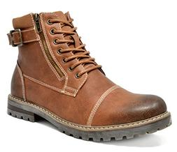 Bruno Marc Men's Engle-05 Brown Motorcycle Combat Oxford Boo