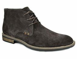 Bruno Marc Men's URBAN-01 Dark Brown Suede Leather Lace Up O