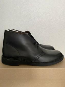 Clarks Bushacre 2 Black Leather Chukka Boots Men's Size 9.5