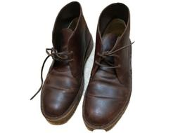 Clarks Bushacre 2 Brown Leather Chukka Boots   US Men's 11.5