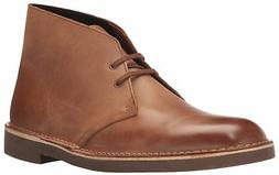 CLARKS Men's Bushacre 2 Chukka Boot, Dark tan Leather, 9 Med