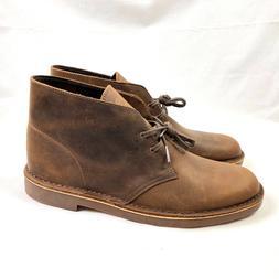 Clarks Bushacre 2 Chukka Boots Mens US 12M Beeswax Brown Lea