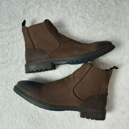 Steve Madden Caliway Chelsea Ankle Zip Boots Men Size 9.5 Su