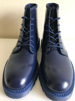 Calvin Klein Fenton Mens Casual Ankle Boots, Navy Blue Leath