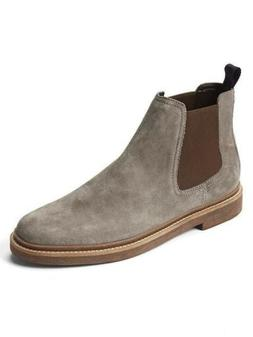 Clarks Chelsea Boots Stone Suede Men's 11 NEW