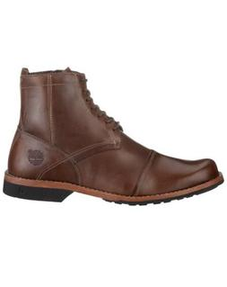 """Timberland City 6"""" Side Zipper Men's Brown Leather Ankle Boo"""
