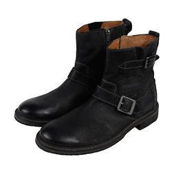 Clarks Clarkdale Cash Mens Black Leather Casual Dress Zipper