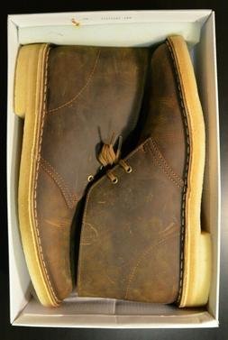 Clarks Men's Bushacre  Boot Beeswax Crepe Sole Leather Size