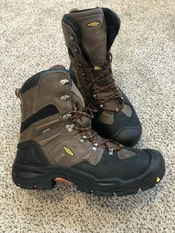 """Keen Coburg 8"""" Size 12M  Men's WP Steel Toe Work Boots Brown"""