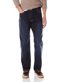 Izod Men's Comfort Stretch Relaxed Fit Jean,38x34,Dark Tint