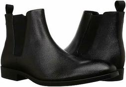 Calvin Klein CORIN TUMBLED LEATHER Black Mens Size 9.5M  Che