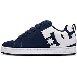 DC Men's Court Graffik Skate Shoe, Navy White, 11.5D D US