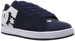 DC Men's Court Graffik Skate Shoe, Navy White, 9.5 D D US